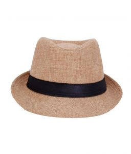 Pursho Fedora Hat For Men - Beige