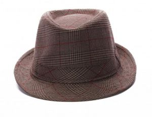 Crosscreek Checkered Brown Hat