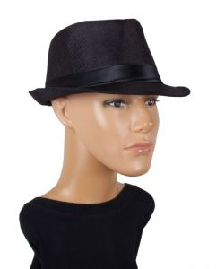 Sushito Detective Black Fidora Hat For Men