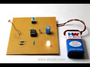 Electronics/electrical Mini Project Using Ic 555- Automatic Night Lamp Or Dark Room Light Controller