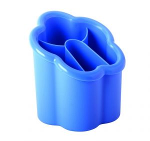 Juypal Hogar Blue Plastic Container Cutlery Rack Organizer