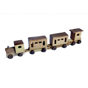 Meddy Craft 3- Wegon Wooden Train