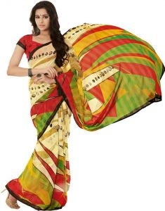 Vipul,Surat Tex Women's Clothing - Vipul Branded Designer Georgette Catalog Saree(Product Code)_11108