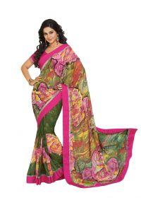 Vipul Women's Clothing - Vipul Branded Designer Georgette Lace Border Catalog Saree(Product Code)_11219