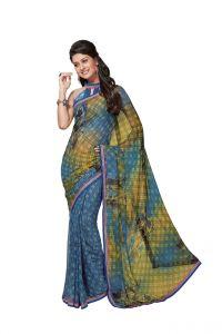 Vipul Georgette Sarees - Vipul Branded Designer Georgette Lace Border Catalog Saree(Product Code)_11238