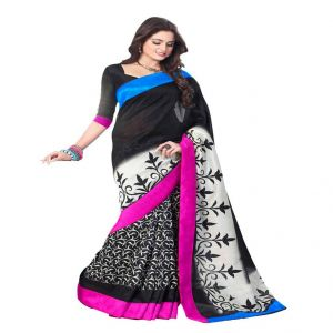 Vipul Branded Designer Bhagalpuri Silk Lace Border Catalog Saree(product Code)_11520