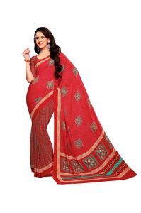 Vipul Women's Clothing ,Women's Accessories ,Womens Footwear  - Vipul Branded Designer Crepe Catalog Saree(Product Code)_11834