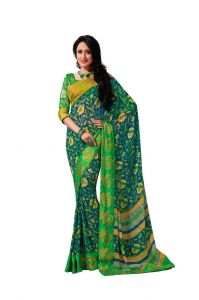 Vipul Branded Designer Georgette Lace Border Catalog Saree(product Code)_12110