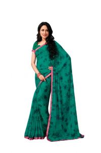 Vipul Women's Clothing - Vipul Branded Designer Georgette Lace Border Catalog Saree(Product Code)_12125