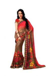Vipul,Oviya,Pick Pocket Women's Clothing - Vipul Branded Designer Georgette Lace Border Catalog Saree(Product Code)_12129
