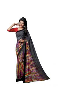 Vipul,Oviya,Jharjhar Women's Clothing - Vipul Branded Designer Georgette Catalog Saree(Product Code)_12313