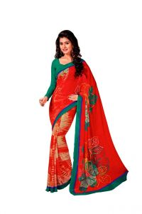 Vipul,Surat Tex,Gili Women's Clothing - Vipul Branded Designer Georgette Catalog Saree(Product Code)_12331