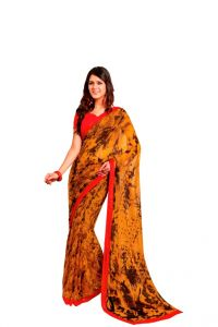 Georgette Sarees - Vipul Branded Designer Georgette Catalog Saree(Product Code)_12332