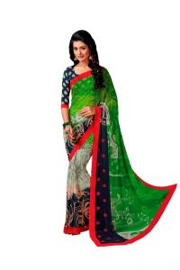 Vipul,Hoop Women's Clothing - Vipul Branded Designer Georgette Catalog Saree(Product Code)_12338