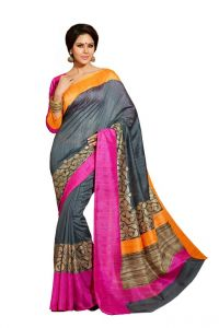 Vipul Branded Designer Bhagalpuri Silk Catalog Saree With Exclusive Foil Work(product Code)_12506