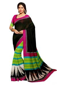 Vipul Branded Designer Bhagalpuri Silk Catalog Saree With Embroidered Blouse(product Code)_12528