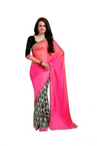 Vipul Women's Clothing ,Women's Accessories ,Womens Footwear  - Vipul Branded Designer Crepe Satin Catalog Saree(Product Code)_12630