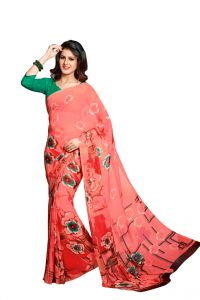 Vipul,Triveni Women's Clothing - Vipul Branded Designer Georgette Catalog Saree(Product Code)_12632