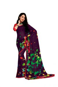 Vipul Women's Clothing - Vipul Branded Designer Georgette Lace Border Catalog Saree(Product Code)_12643