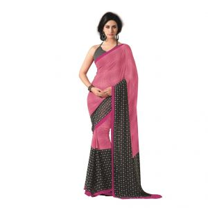 Vipul,Port Women's Clothing - Vipul Womens Georgette Saree (Multicolor)(Product Code)_12816