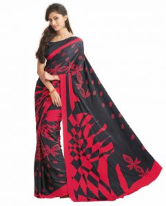 Vipul Sarees (Misc) - Vipul Womens Satin Saree (Multicolor)(Product Code)_12913