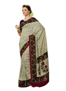 Vipul Womens Bhagalpuri Silk Foil Work Saree (multicolor)(product Code)_13154