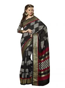 Vipul Womens Bhagalpuri Silk Foil Work Saree (multicolor)(product Code)_13161