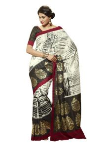 Vipul Womens Bhagalpuri Silk Foil Work Saree (multicolor)(product Code)_13162
