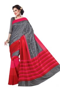 Vipul Womens Thappa Silk Self Embroideried Saree (multicolor)(product Code)_13218