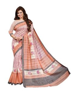 Vipul Womens Bhagalpuri Silk Foil Work Saree (multicolor)(product Code)_13338