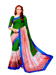 Vipul Womens Bhagalpuri Silk Foil Work Saree (multicolor)(product Code)_13346