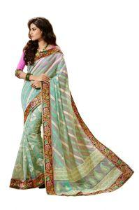 Vipul Sarees - Vipul Womens Bhagalpuri silk Lace bordered Saree (Multicolor)(Product Code)_13501