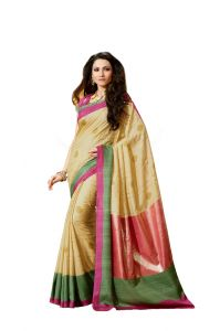 Vipul Women's Clothing ,Women's Accessories ,Womens Footwear  - Vipul Womens Bhagalpuri silk foil work Saree (Multicolor)(Product Code)_13617