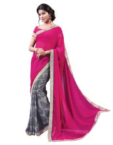 Vipul Womens Georgette Lace Bordered Saree (multicolor)(product Code)_13720