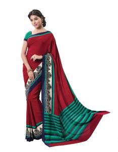Crepe Sarees - Vipul Womens Crepe Saree (Multicolor)(Product Code)_13907