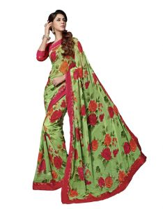 Vipul Womens Georgette Lace Bordered Saree (multicolor)(product Code)_14025