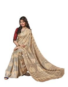Vipul Women's Clothing ,Women's Accessories ,Womens Footwear  - Vipul Womens Bhagalpuri silk foil work Saree (Multicolor)(Product Code)_14225