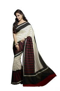 Vipul Women's Clothing - Vipul Womens Thappa silk self embroideried saree (Multicolor)(Product Code)_14539