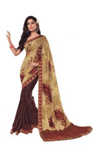 Vipul Women's Clothing - Vipul Womens Georgette lace bordered saree (Multicolor)(Product Code)_14620