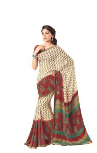Vipul,Arpera,Surat Diamonds Women's Clothing - Vipul Womens Georgette lace bordered saree (Multicolor)(Product Code)_14625