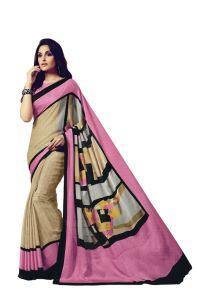Vipul Sarees (Misc) - Vipul Womens Satin saree (Multicolor)(Product Code)_14709