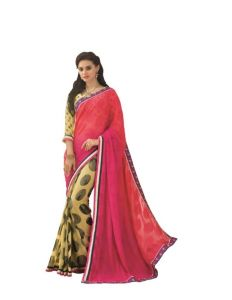 Vipul Multicoloured Georgette Saree With Blouse Piece (code - 15014)