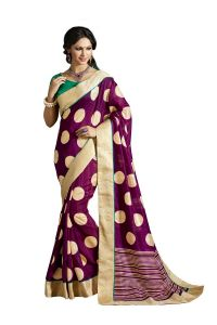 Vipul Multicoloured Art Silk Saree With Blouse Piece (code - 15449)