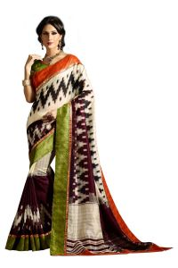 Vipul Multicoloured Art Silk Saree With Blouse Piece (code - 15455)