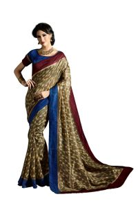 Vipul Multicoloured Art Silk Saree With Blouse Piece (code - 15462)