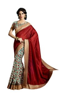 Vipul Multicoloured Art Silk Saree With Blouse Piece (code - 15464)
