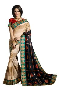 Vipul Multicoloured Art Silk Saree With Blouse Piece (code - 15472)