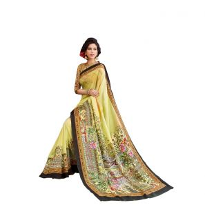 Vipul Multicoloured Art Silk Saree With Blouse Piece (code - 15833)