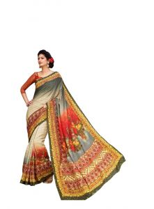 Vipul Multicoloured Art Silk Saree With Blouse Piece (code - 15836)