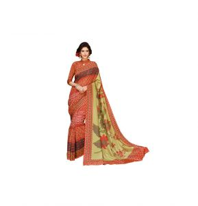 Vipul Multicoloured Art Silk Saree With Blouse Piece (code - 15837)